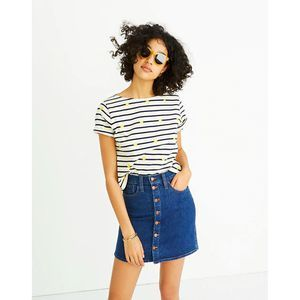 Madewell Skirt 29 Denim Button Mini Arroyo J0564
